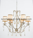 Decorative Silver Foil Iron Crystal Chandelier