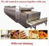 Stainless Steel Cookies Gas Continuous Long Conveyor Tunnel Oven with Request Length (Manufacturer CE&ISO)