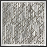 Geometrical Embroidery Lace Fabric of Fine Workmanship