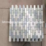 Design White Grey Marble Stone Mosaic for Bathroom Flooring