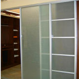 8mm 10mm Acid Etched Safety Tempered Door Glass-Toughened Glass Door