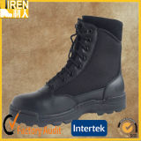 Black Genuine Cow Leather Outdoor Cheap Military Police Tactical Boot