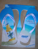 Beer Logo Printed Summer Marketing Gift EVA Flip Flops Slipper