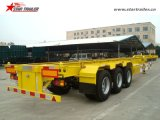 Chassis Trailer with Skeleton Type for 20 or 40 Feet Container