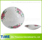 "8"" Porcelain Round Edge Soup Plate and Bowl (TM008)"