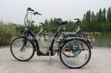 Fashion Electric Tricycle Steady Safe City Road E Trike Black E-Bike Old Men Outdoor Taking Cargo