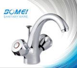 Doubble Brass Handle Basin Faucet (BM56603)