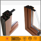 Thermally Broken Wood Grain Aluminium Extrusions for Window and Doors