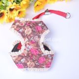 Flowers Printings Beautiful Pet Product Dog Harness with Lace
