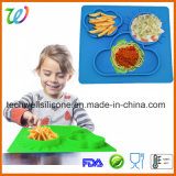 Anti-Slip Table Silicone Rubber Baby Placemat for Kids