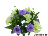 Artificial/Plastic/Silk Flower Rose/Hydrangea Mixed Bush (2918100-19)