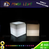 Home Furniture Color Changing Plastic Square LED Cube with Cushion
