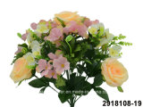 Artificial/Plastic/Silk Flower Rose/Hydrangea Mixed Bush (2918108-19)