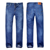 Men′s Fashion Hot Sale Blue Denim Slim Fit Trousers