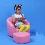 Baby Pink PVC Leather Single Seat Kids Sofa (SF-12)