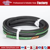 SAE100 R3 R6 High Tensile Fiber Braided Hydraulic Rubber Hose