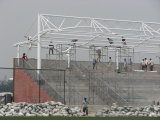 Cold Galvanized Steel Space Truss Structure for Stadium