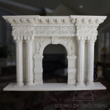High Quality and Hot Sale Classic Style Carved Indoor Decorative Marble Fireplace