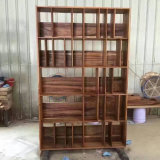 Large Storage Walnut Wood Bookcase for Home or Office (CG-006)