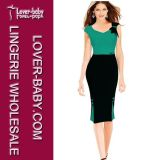 Ladies Bodycon Office Business Slim Party Dress (L36053-2)