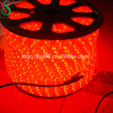 Transparent 10mm Thin Red Tube Rope LED Light