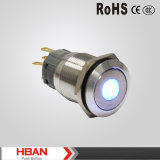 19mm Vandal Resistant LED Illumilated IP67protection Level Push Button Switch