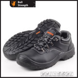 Low Genuine Leather Safety Shoe with PU Injection (SN5155)