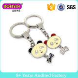 Lovely Little Bear Silver Plating Enamel Keychain