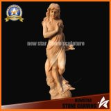 Sunset Red Marble Carving Nude Beautiful Girls Stone Sculpture Statues