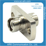FC/APC Rectangle Fiber Optic Adapter with Green Cap