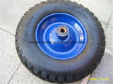 16X400-8 PU Flat Free Wheel for Wheelbarrow