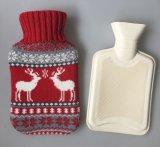 Christmas Gift Deer Design Knitd Hot Water Bottle Cover