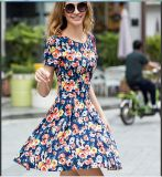 2015 Plus Size Floral Print Women Dress