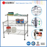 Adjustable DIY Chrome Plated Steel Kitchen Mini Wire Shelf Rack