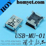 5p Mini USB Jack SMD Type Mini USB Female Connector with Mounting Pegs