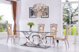New Modle Tempered Glass Dining Room Furniture Dining Table Sets