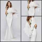 White Bridesmaids Party Dress Shawl Prom Evening Dresses T93151