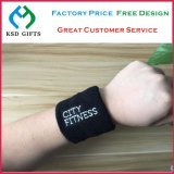 Custom Cotton Sports Wrist Sweatband with Embroidered Logo