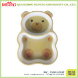Cute Bear Shape Kids Use Safe Melamine Plate
