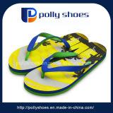 High Quality Open Toe Cheap Wholesale Men EVA Yellow Slippers