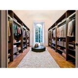 Home Design Wooden Grain Melamine Big Storage Walk-in Wardrobe