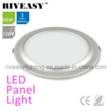 2017 New Product Electroplated Aluminum 12W Silver LED Panel Light