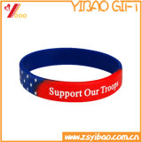Customized Silicone Wristband with Color Filled