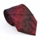 (059-064) Hot Sale Woven Jacquard Paisley Polyester Necktie