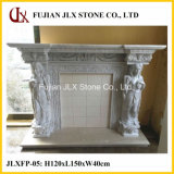 White Marble Sculpture Fireplace Stone Mantel