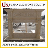 Wholesale Beige Marble Stone Indoor Fireplace Mantel