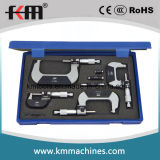 0-75mmx0.01mm 3PCS Set Outside Micrometer with Counter