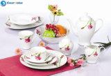 47PCS European Style Chinese Luxury Porcelain Ceramic Tableware Set