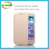 Ling Plaid Pattern Leather with Stand Phone Cover Case