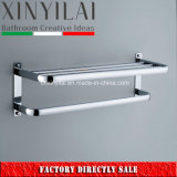 Chrome Plated Bathroom Accessory Metal Towel Shelf